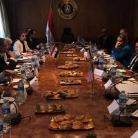 صورة للاجتماع نشرها موقع السفارة الإسرائيلية فى القاهرة