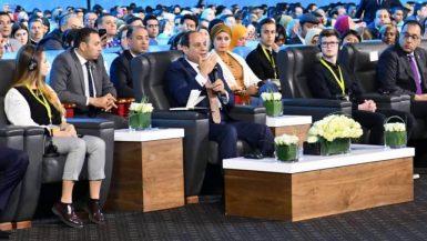 عبدالفتاح السيسي ؛ منتدى شباب العالم
