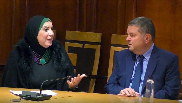 نيفين جامع وزيرة التجارة والصناعة و هشام توفيق وزير قطاع الأعمال العام