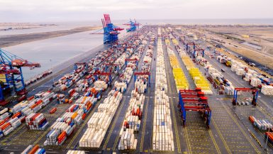 محطة تداول الحاويات في ميناء شرق بورسعيد و المنطقة اللوجيستية الملاصقة لها