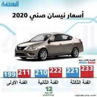 سعر نيسان صني 2020