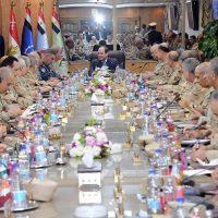 السيسى وقيادات القوات المسلحة