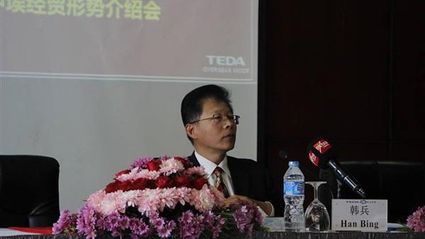هان بينغ الوزير المفوض التجارى بسفارة الصين لدى القاهرة