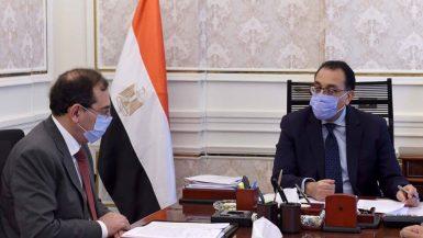 مصطفى مدبولى رئيس مجلس الوزراء و طارق الملا وزير البترول
