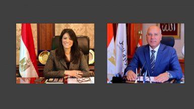 وزير النقل المهندس كامل الوزير ووزيرة التعاون الدولى الدكتورة رانيا المشاط