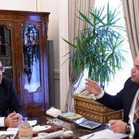 رئيس الوزراء مصطفى مدبولى ؛ رئيس البورصة محمد فريد