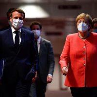 الاتحاد الأوروبى الرئيس الفرنسى ماكرون و المستشارة الألمانية ميركل