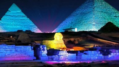 الصوت والضوء بمنطقة الاهرامات