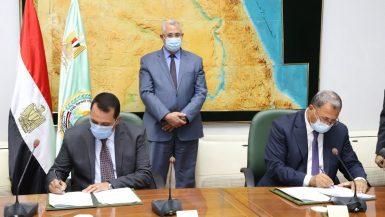 وزير الزراعة يشهد توقيع بروتوكولين لدعم المستفيدين من مشروع 1.5 مليون فدان