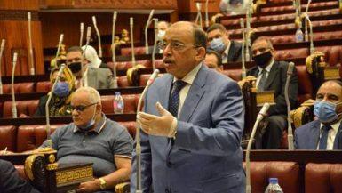 محمود شعراوى وزير التنمية المحلية أمام النواب