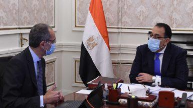 مصطفى مدبولى و عمرو طلعت