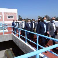 """""""مدبولى"""" يتفقد محطة مياه الباجور.. المحطة تخدم نصف مليون مواطن بالمركز والقرى التابعة"""