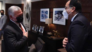 ملك الأردن يستقبل رئيس مجلس الوزراء المصرى