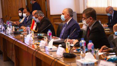 وزير الرى يبحث موقف مفاوضات سد النهضة مع المبعوث الامريكى والمبعوثة الأوروبية