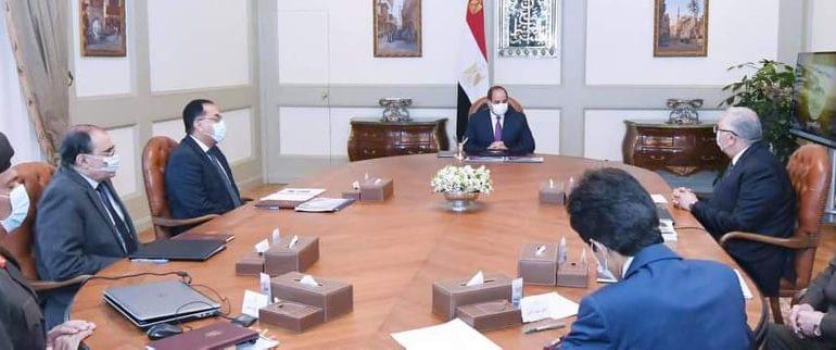"""الرئيس السيسى يوجه بتنفيذ مشروع """"الدلتا الجديدة"""" بمساحة مليون فدان"""