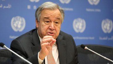 أمين عام الأمم المتحدة أنطونيو جوتيريس