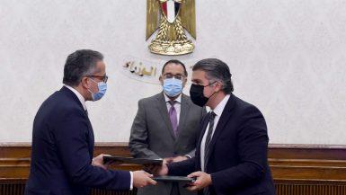 """الحكومة توقع عقد تشغيل الخدمات بالمتحف المصرى الكبير مع تحالف """"حسن علام"""""""