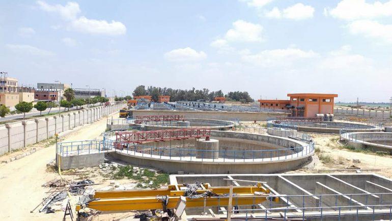 """رئيس جهاز """"النوبارية الجديدة"""": جارٍ الانتهاء من الهيكل الخراسانى لمحطة المعالجة الرئيسية"""