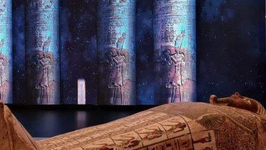 """وصول تابوت """"بسماتيك بن أوزير"""" الأثرى لمقر الجناح المصرى بـ""""إكسبو دبى"""""""