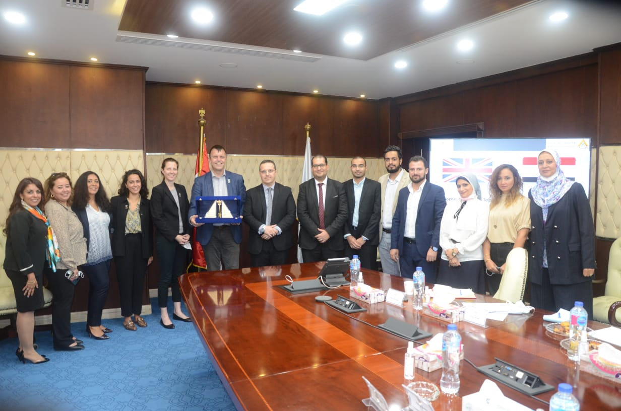 """1633941184 488 124365 1 The Deputy Minister of Housing discusses cooperation mechanisms with the """"Champion of Climate Action in the United Kingdom"""""""
