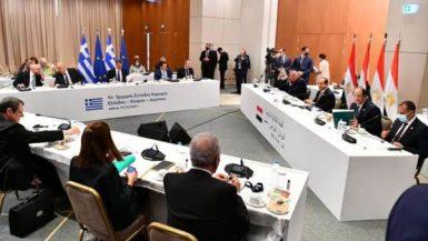 الرئيس القبرصى يشيد بتطابق المواقف مع مصر واليونان